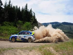 Postal: Subaru en un rally