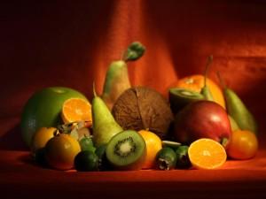 Frutas en un bodegón