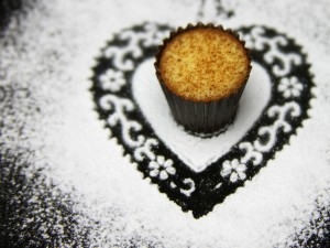 Magdalena dentro de un corazón de azúcar
