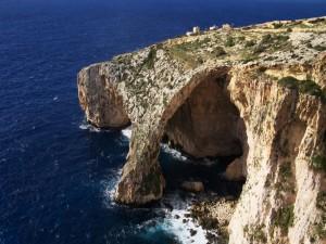 Postal: La gruta azul, Malta