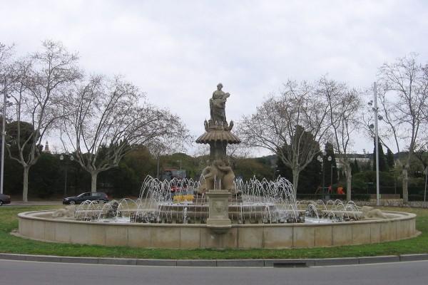 Fuente de Ceres, plaza de San Jorge (Montjuic, Barcelona)