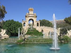 Postal: Cascada del Parque de la Ciudadela (Barcelona)