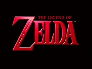 The Legend of Zelda en un fondo negro