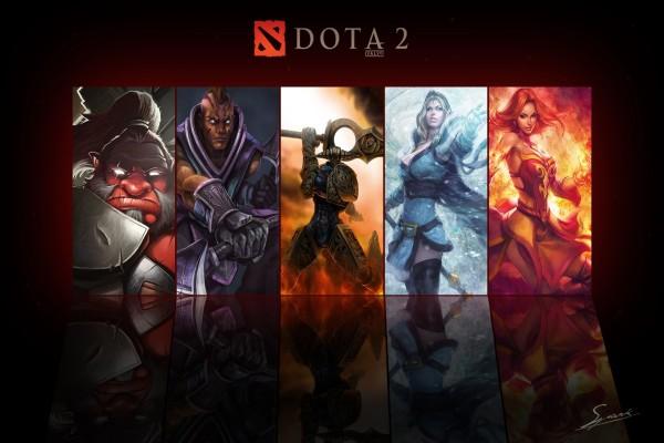 Cinco héroes de Dota 2