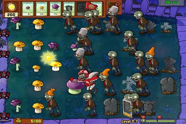 """Imagen del juego """"Plantas contra Zombis"""""""