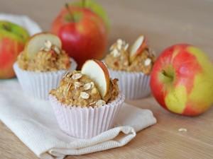 Magdalenas con avena y manzana