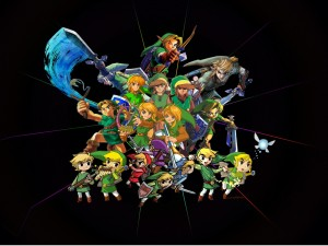 """Varios Link, el joven guerrero de """"The Legend of Zelda"""""""