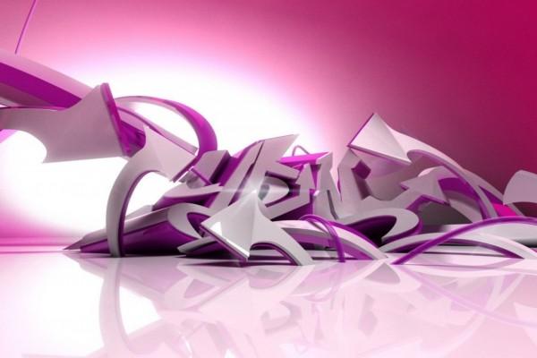 Flechas de color blanco y rosa