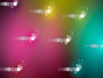 Destellos en un fondo de colores