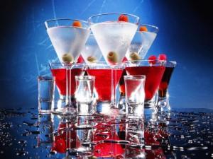 Postal: Cócteles con Martini