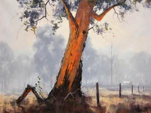 Pintura de un viejo árbol