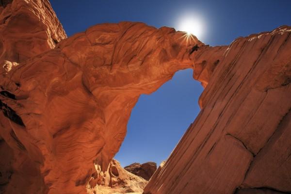 Arco de roca en el Parque Nacional de los Arcos