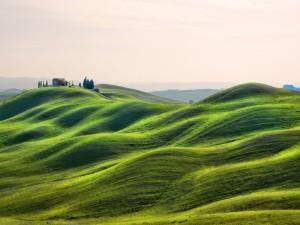 Casa en unas colinas de la Toscana (Italia)