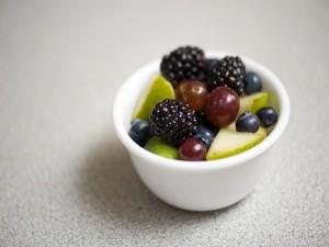 Cuenco con frutillas