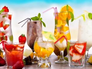 Bebidas con frutas frescas