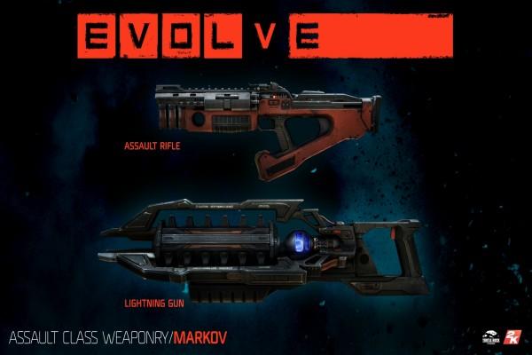 Dos armas de Evolve