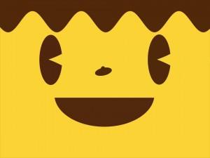 Una cara sonriente y feliz
