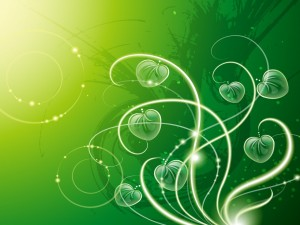 Hojas verdes abstractas