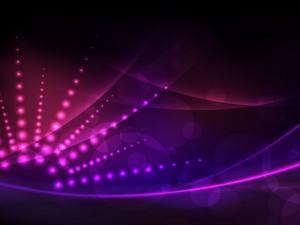 Esferas con un bonito efecto de luces