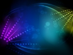 Gran efecto de luces sobre un fondo oscuro