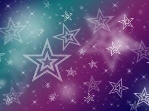 Varias estrellas sobre un fondo degradado
