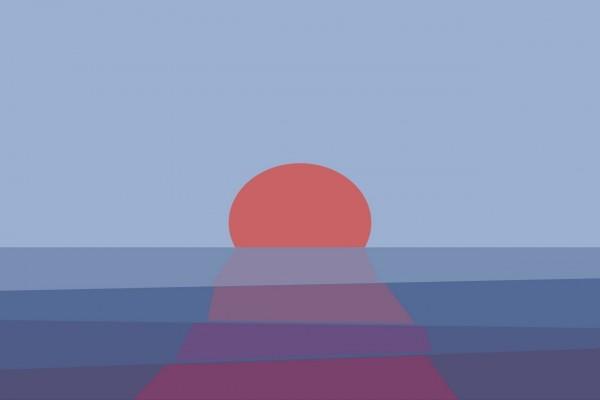 Un amanecer sobre el mar