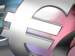 Símbolo de la moneda europea en 3D