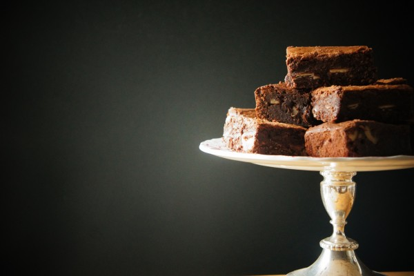 Brownie en un stand
