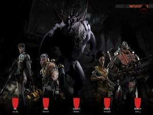 Goliath tras cuatro cazadores (Evolve)