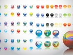 Varias canicas con distintos colores y diseños