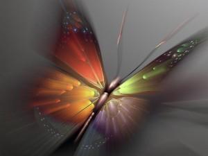 Esplendorosa mariposa en 3D