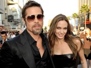 Brad Pitt con su mujer Angelina Jolie