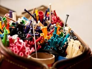 Globos de colores listos para inflar