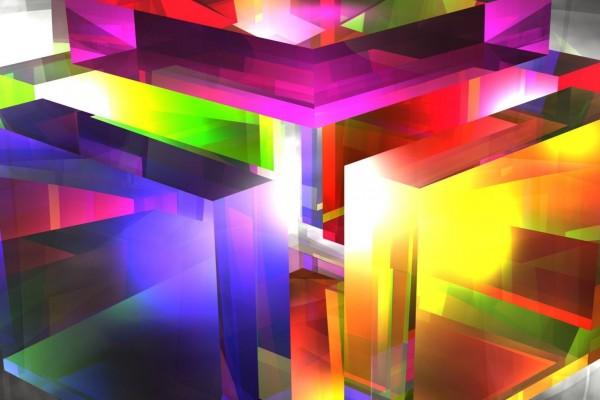 Cubo de varios colores