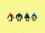 """Personajes de la serie de películas, videojuego y cómic """"Los Vengadores"""""""