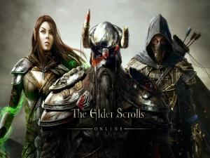 """Tres personajes de """"The Elder Scrolls Online"""""""