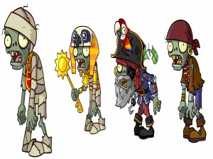 Zombis de Egipto y Mares Piratas (Plantas contra Zombis 2)