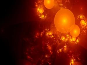 Burbujas anaranjadas
