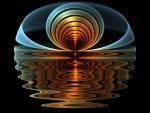 Ondas suaves reflejadas en el agua