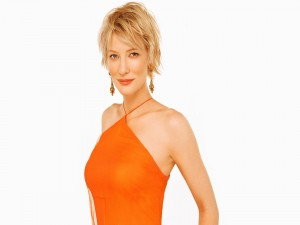 Cate Blanchett con un vestido naranja