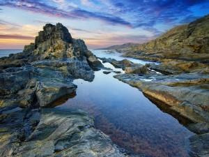 Vista de un amanecer en las Islas Canarias