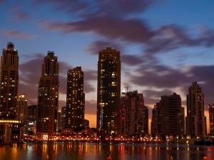 Crepúsculo en Dubái