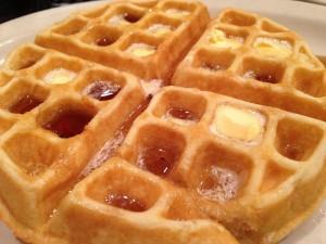 Gofre con exceso de mantequilla