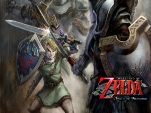 "Link luchando en ""The Legend of Zelda: Twilight Princess"""