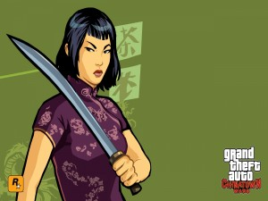 "Ling Shan, personaje de ""Grand Theft Auto: Chinatown Wars"""