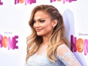 La sonriente Jennifer Lopez