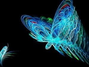 Coloridas mariposas en 3D