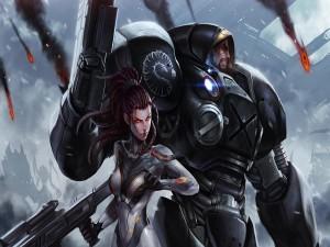 Kerrigan y Jim Raynor (StarCraft II)