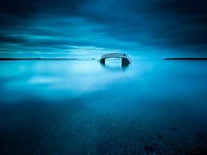 Puente en mitad de un lago