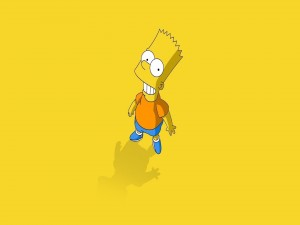 Bart Simpson sonriendo